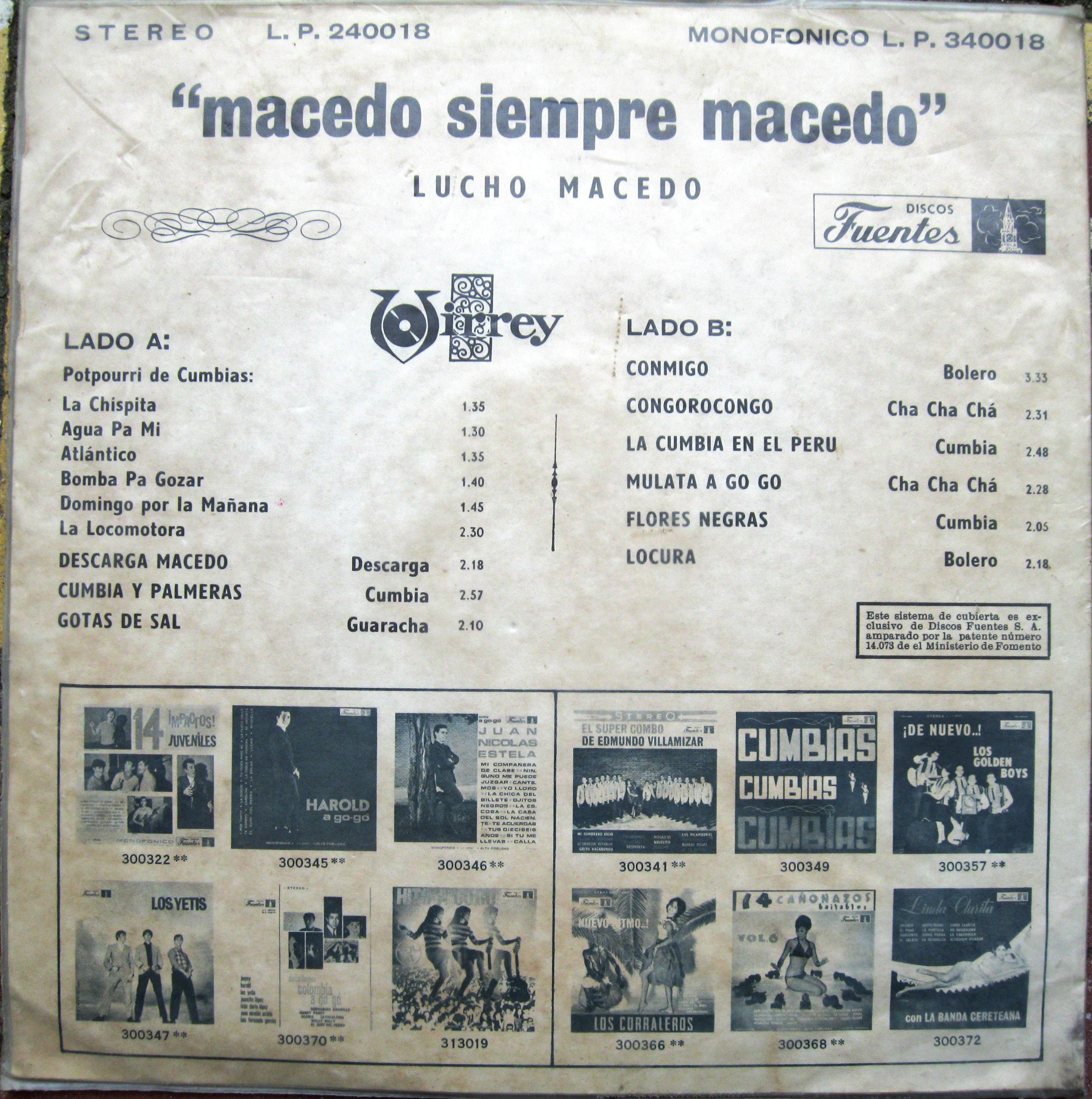 La Sonora De Lucho Macedo Cumbia Pompo Y Guaracha