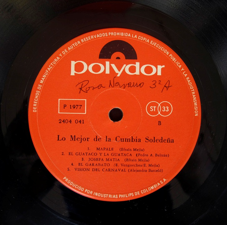 Cumbia Soledeña - éxitos del carnaval - Polydor 2404041 - 1.977 (3/6)