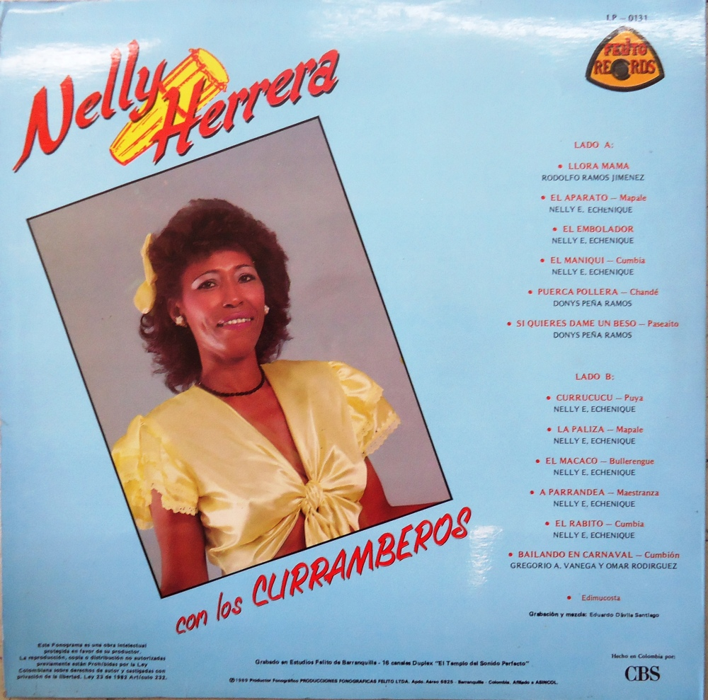 Nelly Herrera Con Los Curramberos - FELITO RECORDS LP - 0131 (4/4)