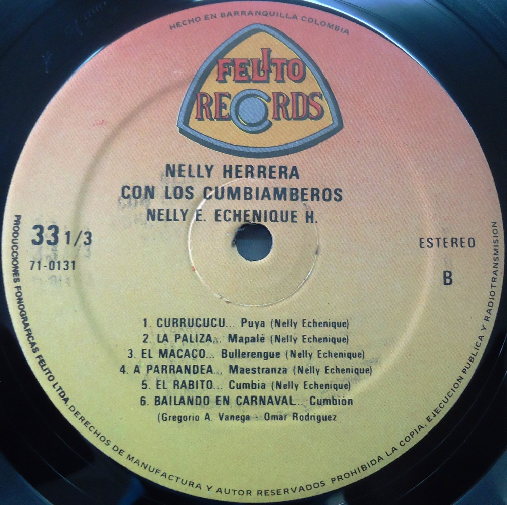 Nelly Herrera Con Los Curramberos - FELITO RECORDS LP - 0131 (3/4)