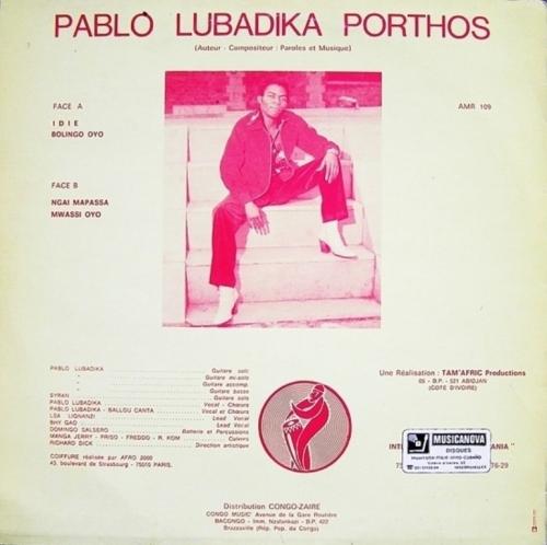 PABLO LUBADIKA PORTHOS - IDIE TRASERA